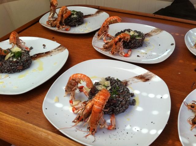 rižot s škampima